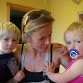 Dies sind die Kinder der beiden: Louis und Rosi...