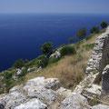 Von dieser Festung aus hat man herrliche Ausblicke über das Meer.