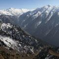 """Viele Passagen musste ich klettern und immer wieder schauen, wo der Weg wenig Schnee hatte und """"begehbar"""" war."""
