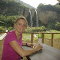Pause an einem Wasserfall.