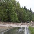 Und wegen Erdrutschen auf allen Passstraßen, waren wir in unserem Tal komplett abgeriegelt und mussten einen Tag länger bleiben.