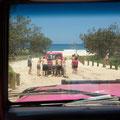 Es geht zum Strand... nicht ganz einfach... :-)