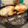 Der Weihnachtsbraten kommt in Australien bei 30 Grad natuerlich nicht aus dem Ofen, sondern vom Grill.