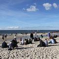 Und Ruhe hat man zumindest am Brandenburger Strand nicht mehr.