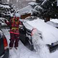 Das hätte Deike sich sparen können, denn es hat noch einen Tag geschneit.