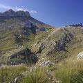 Das ist der Puig de Masanella. Ihr seht ihn am linken Bildrand.
