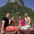 Auf dem Schiff haben wir Martijn und Meike kennengelernt. Mit ihnen reisen wir noch eine ganze Woche weiter.