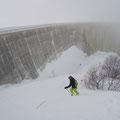Diesmal gehts aber nicht über die Mauer, sondern an der Mauer nach unten.