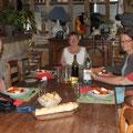 Abendessen gab es bei den Gastgebern zu Hause. Da musste ich aber mal alles ausgraben, was noch so an französichen Vokabeln da war...