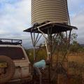 Morgenwaesche im Outback