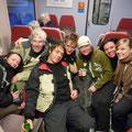 Heimfahrt von der Skigebietsführung