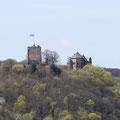 Unterwegs blickt man immer wieder auf die Burg Rheineck.