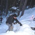 ... wenn auch eine echte Schneeschuhwanderung bei mir eher so aussieht... und wenn ich die Route aussuche, wird´s schon auch mal etwas abenteuerlich... :-)