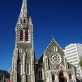 Und dies ist die Kathedrale im Stadtzentrum von Christchurch.