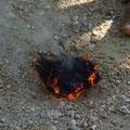 aber schliesslich brannte es...