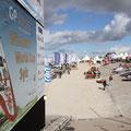 Noch ist es auch ruhig am Brandenburger Strand, wo 10 Tage lang der Surf World Cup ausgetragen wird.