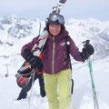 Hier muss ich meine Ski noch tragen...