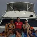 Mit dem Boot verlassen wir Cartagena.