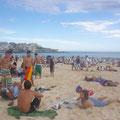 Im Vergleich zu Bondi hat Surfers dann doch einen eher ruhigen Strand... :-)