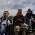 Gluecklich sind wir auf dem Gipfel.