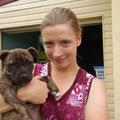 """Und dies ist Kathrin, mit ihrem """"Baby""""... :-)"""