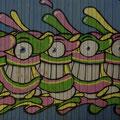Graffities sind typisch fuer Bogota.