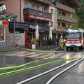Überall waren Feuerwehren im Einsatz.