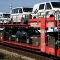 Mit dem Autozug ging es über den Hindenburgdamm.