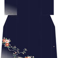 「川面の椿」・濃紺