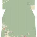 「流水にオシドリ」・緑