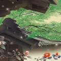 和UESAKA/上坂友禅・武家屋敷に雪