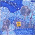 Сахарова Е.А. Млечный путь..2011г.,медь,эмаль,21х21