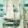 Парусная регата.2001г.,газ.бум.,тушь,пастель 36х54