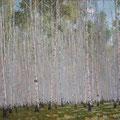 """Мокшин Ю.А. """"Березки"""". 2010 г. Холст, масло. 50х60"""