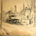 """Серов В.В.""""Германия. г. Штаргард"""". 1945. Б.,кар.   32х25. МИХМ"""
