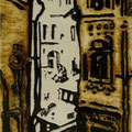 """Мымрина Е.В. """"УЕЗДНЫЙ ГОРОД"""".  2010 г.  Автоцинкография  28,5х16,5"""