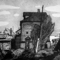 """Щегольков М.И. """"Старый дом"""". XXI век. 2006. гравюра на картоне."""