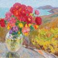 "Плёнкин О.И. "" Цветы на капоте"". 2013. Х., м. 50х60"
