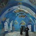 """Пешкин В.А. """"Храм возрождается"""". 2002. К.,м. 115х85"""