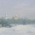 "Изотов М.Н. ""Зимний день во Владимире."" 2005. Холст, масло 107х176 ИРРИ, Москва."