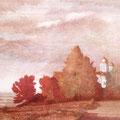 """Рузин В.И. """"Осень на Соборной горе"""". 1991. Цв. офорт. 40х50."""