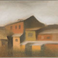 """Ляпин К.А. """"Двор"""". 2001. бумага, пастель"""
