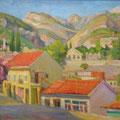 """Бритова Н.К. """"Старый Бар"""".  2009. х. м. 50х60"""