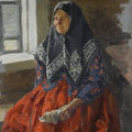 """Куликов И.С.""""Старушка из Нежиловки"""". 1927. Х.,м. 52х40.МИХМ"""