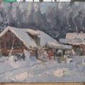 Белов Н.Н. Январский снег. 1995 карт, масло 40х50