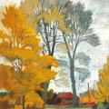 """Рузин В.И. """"Осень в Кадыеве"""". 2007. Бум. пастель. 50х40"""