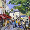 "Бритова Н.К. ""Париж  Монмартр"".  2007  х.м.  40х50"