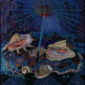 "Баранчук Н.Е. ""Раковины"".2010 Холст,масло.79,5х79,5"