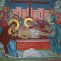 """Орехов А.В. """"Положение во гроб."""" 2012 Роспись алтаря храма. п.Мстёра."""