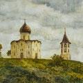 "Шамаев В.И. ""Церковь Спаса на Нередице"",2005, 60Х80, б,акв."